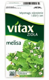 Herbata ziołowa w torebkach Vitax Zioła, melisa, 20 sztuk x 1.5g