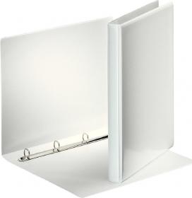 Segregator prezentacyjny Esselte Panorama, A4, szerokość grzbietu 63mm, do 380 kartek, 4 ringi, biały
