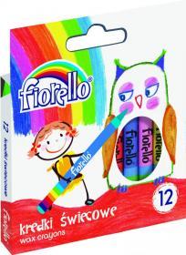 Kredki świecowe Fiorello, 12 kolorów