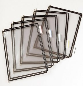 Panele prezentacyjne Tarifold, A4, 10 sztuk, czarny