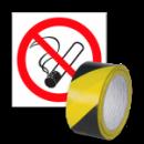 Gaśnice, znaki ostrzegawcze i taśmy
