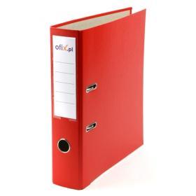 Segregator Ofix A4/75mm do 500 kartek czerwony